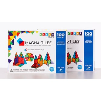Magna-Tiles transparent byggesæt 200 dele