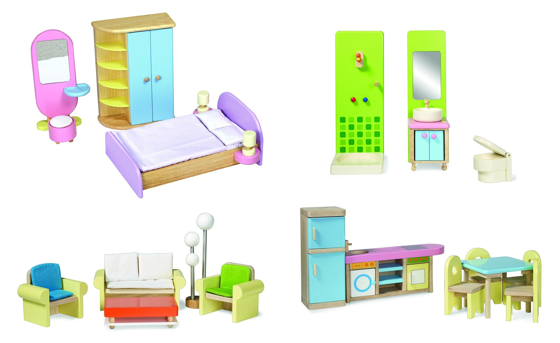 Møbelsæt stort - Lekolar Danmark