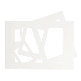 Hvide Rammer Af Karton Blandede Størrelser Lekolar Danmark